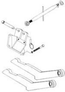 2-Point Hitch Conversion Kit International 240