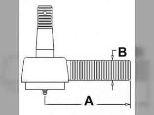 Drag Link End - Front Massey Ferguson TEA20 126920