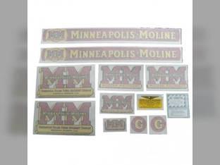 Tractor Decal Set G Vinyl Minneapolis Moline G