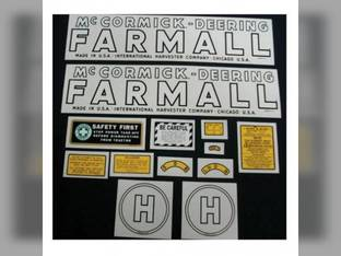 Tractor Decal Set H Mylar International H