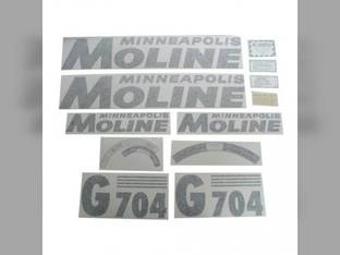 Tractor Decal Set G704 Black Vinyl Minneapolis Moline G704