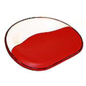 Seat With Rod - Red & White Vinyl