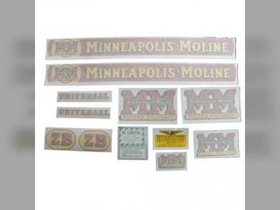Tractor Decal Set ZB Vinyl Minneapolis Moline ZB