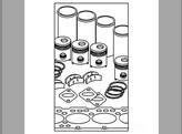 Overhaul Kit, 4 Cylinder, Diesel, In Frame