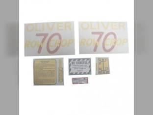 Tractor Decal Set 70 Row Crop Vinyl Oliver 70