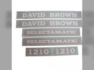 David Brown Decal Set Case 1210
