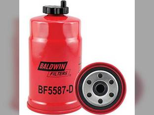 Filter - Secondary Fuel Spin On With Drain BF5587 D New Holland TD80D L190 TD95D Case IH JX85 JX75 JX80U JX65 JX55 JX60 JX95 JX90 JX70 JX80 JCB Massey Ferguson 4225 Case 580 590 Volvo Landini Same