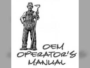 Operator's Manual - KU-O-F2000 Kubota F2000