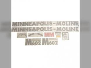"Tractor Decal Set M602 46"" Hood Decal Vinyl Minneapolis Moline M602"