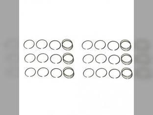 Piston Ring Set - Standard - 6 Cylinder Minneapolis Moline 504 G1000 G705 G1350 G1050 G706 G708 A4T 1600 G704 G707 A4T 1400 Oliver 2455 2055