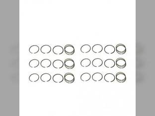 "Piston Ring Set - .060"" Oversize - 6 Cylinder Oliver 2270 2655 2155 Minneapolis Moline G1355 585 G1350 White 2-150"