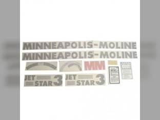 Tractor Decal Set Jet Star 3 Vinyl Minneapolis Moline Jet Star 3