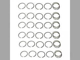 Piston Ring Set - Standard - 6 Cylinder Allis Chalmers FL70 F80 TL14 F70 FD70 D17 FD80 TL12 F100 FD120 FD100 F60 262 262 F120 FL80 FD60 FL100 TL10 TL11 FL60 D19 FL120