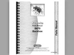 Parts Manual - KU-P-B7100 Kubota B7100