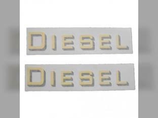 Tractor Decal Set 'Diesel' Yellow Vinyl Massey Harris Challenger 201 744 82 202 20 81 Pony Pacemaker 30 333 50 22 101 203 745 444 44 102 Colt 33 555 55 Mustang