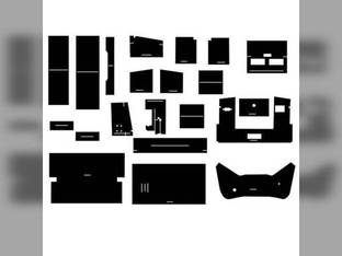 Cab Foam Kit with Headliner Black International 4586 4786 4386