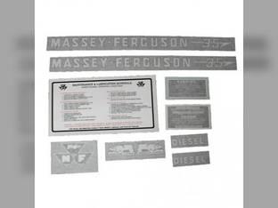 Tractor Decal Set 35 Diesel Vinyl Massey Ferguson 35
