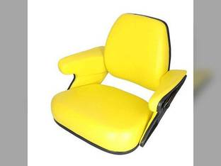 Seat Assembly Vinyl Yellow John Deere 2955 3150 4040 4050 4055 4240 4250 4255 4440 4450 4455 4555 4560 4640 4650 4755 4760 4840 4850 4955 4960 7200 7210 7400 7410 7600 7610 7700 7710 7800 7810 4430