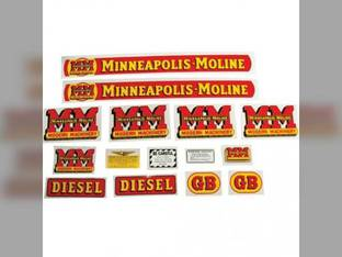 Tractor Decal Set GB Diesel Mylar Minneapolis Moline GB