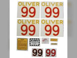 Tractor Decal Set 99 Mylar Oliver 99