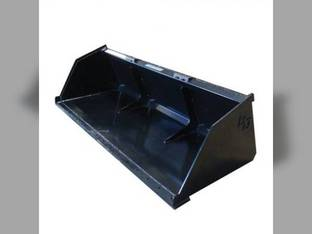 Blue Diamond - Skid Steer Loader Attachment Snow & Mulch Bucket 72""
