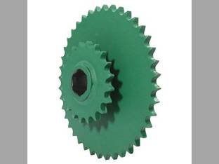 Sprocket - Double Lower Drive Roll John Deere 335 330 535 375 530 430 435 385 AE39652