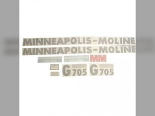 Tractor Decal Set G705 Vinyl Minneapolis Moline G705