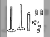 Cylinder Head, Valve Train, Kit