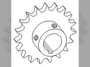 Sprocket - Unloading Auger Countershaft Drive John Deere 9750 STS 9410 9600 9610 9560 9760 STS 9450 9650 STS 9400 9560 STS 9650 CTS 9660 STS CTSII 9860 STS 9550 9550 SH 9501 9640 9650 CTS 9510 9660