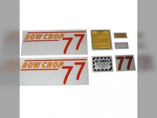 Tractor Decal Set 77 Row Crop Red Mylar Oliver 77