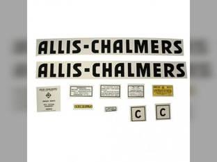 Decal Set C Black Even Letters Mylar Allis Chalmers C