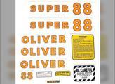 Tractor Decal Set Tractor Super 88 Mylar Oliver Super 88
