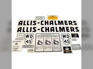 Decal Set WD45 Black Mylar Allis Chalmers WD45
