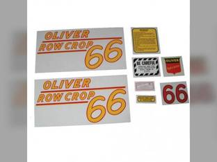 Tractor Decal Set 66 Row Crop Yellow Mylar Oliver 66