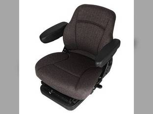 Seat Assembly - Air Suspension Fabric Gray Case IH MX210 MX230 8940 8950 MX120 7110 7120 7130 7140 7150 7210 7220 7230 7240 7250 8910 8920 8930 New Holland McCormick Case Hagie Versatile Deutz Allis