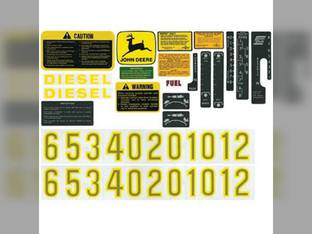 Decal Set John Deere 2510 4620 4010 3010 5010 3020 4520 5020 4000 4020 6030 4320 2520 AR34177