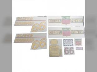 Tractor Decal Set 66 Standard Diesel Yellow Vinyl Oliver 66