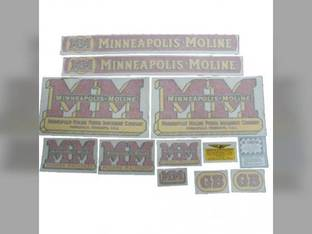 Tractor Decal Set GB Wide Fenders Vinyl Minneapolis Moline GB