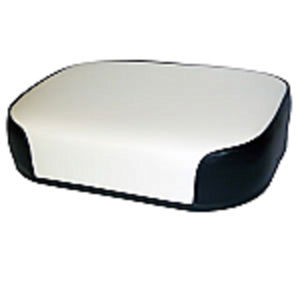 Seat Cushion - Black and White Vinyl