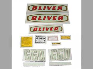 Tractor Decal Set 660 Early Diesel Mylar Oliver 660