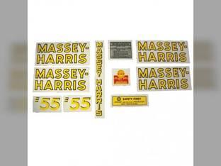 Tractor Decal Set 55 Mylar Massey Harris 55
