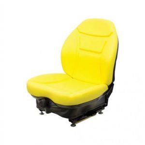 Seat Assembly - Mechanical Suspension Vinyl Yellow New Holland LS160 LS170 L170 John Deere 320 315 270 250 240 Case 450 440 1840 430 420 1845C Bobcat T190 S185 S175 Caterpillar Mustang Gehl Daewoo