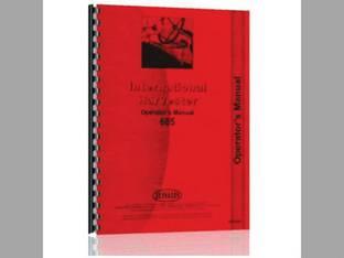 Operator's Manual - IH-O-685 Harvester International 686