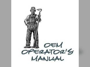 Operator's Manual - JD-O-OMR70718 John Deere 1050