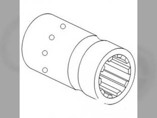 Shear Tube Coupling Sleeve - Reduction Massey Ferguson 2200 165 203 188 F40 178 148 35 135 155 175 150 TO35 202 168 65 50 205 204 183088M2