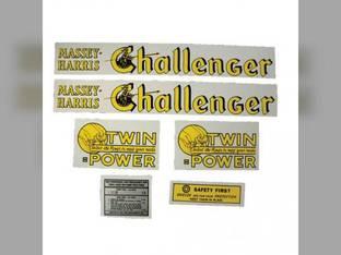 Tractor Decal Set Challenger Mylar Massey Harris Challenger