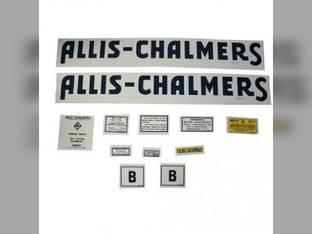 Decal Set B Blue Long A&S Mylar Allis Chalmers B