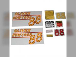Tractor Decal Set 88 Row Crop Yellow Mylar Oliver 88