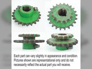 Used Feeder House Drive Sprocket John Deere 9400 CTS CTSII 9501 9510 9500 9410 9600 9610 AH125782