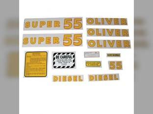 Tractor Decal Set Super 55 Diesel Mylar Oliver Super 55